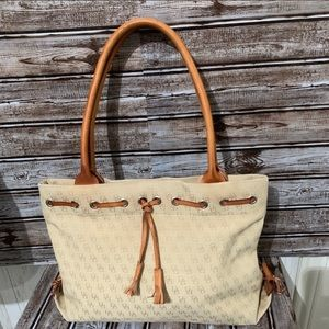 Dooney & Bourke Leather & Canvas Monogram Purse